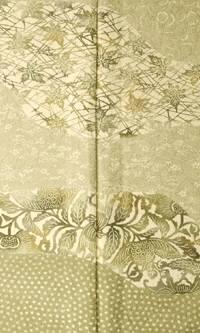 正絹 訪問着 印花布自然染 結婚式 卒業式 フォーマル 和装 着物