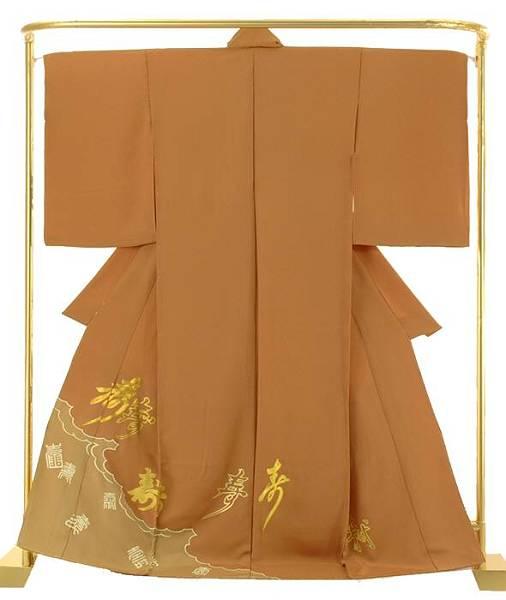 正絹創作色留袖 金彩寿文字散らし 結婚式 卒業式 フォーマル 和装 着物