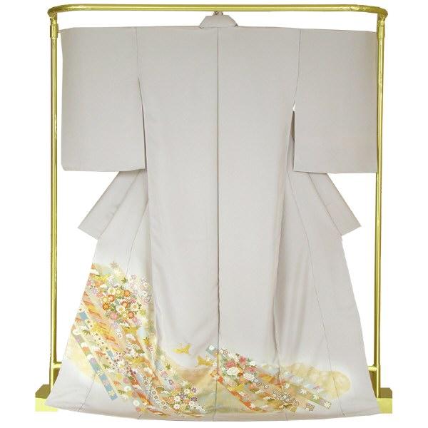 正絹友禅色留袖 花の友禅流し 結婚式 卒業式 フォーマル 和装 着物