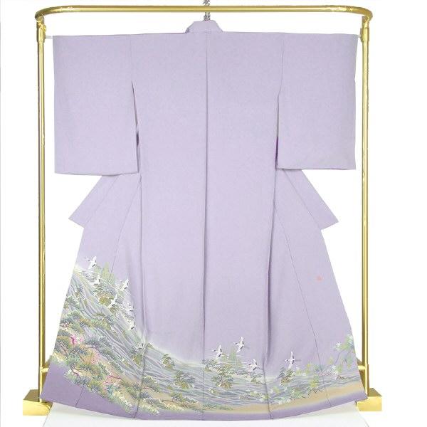 正絹本加賀色留袖 飛翔 武部良信 作 結婚式 卒業式 フォーマル 和装 着物