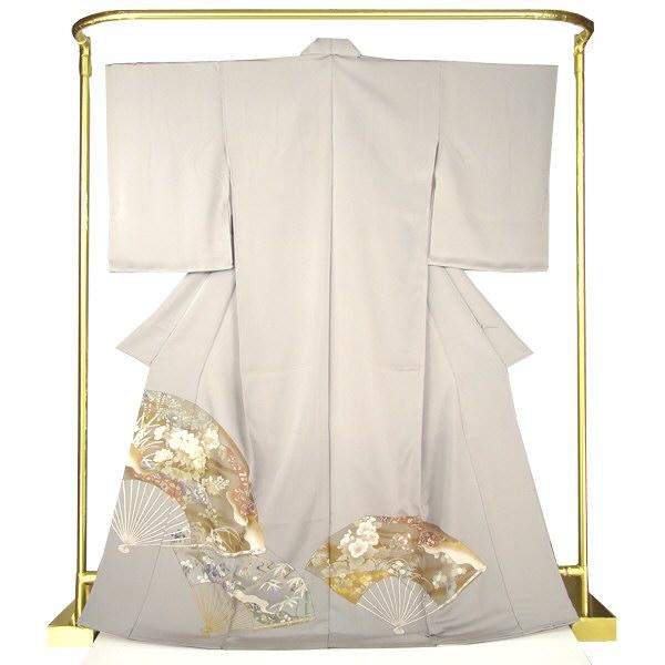 正絹京友禅色留袖 華の扇 結婚式 卒業式 フォーマル 和装 着物