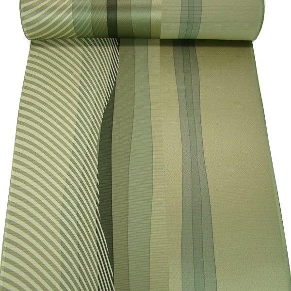 正絹手描染着尺 臈彩の洒落・抹茶