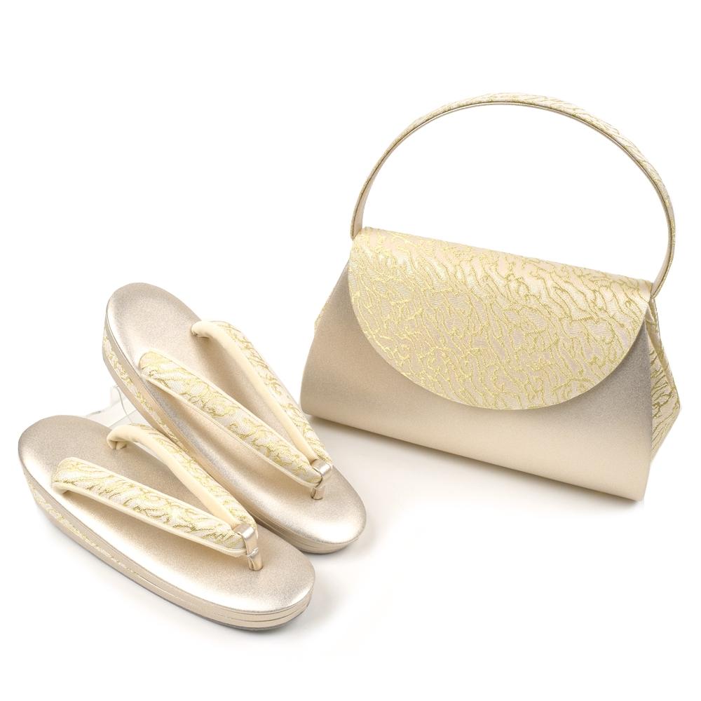 草履バッグセット ローブデコルテG ゴールド S M L LL 3L 5サイズ 礼装用 留袖用 黒留袖 結婚式 卒業式 入学式 卒園式 入園式 フォーマル