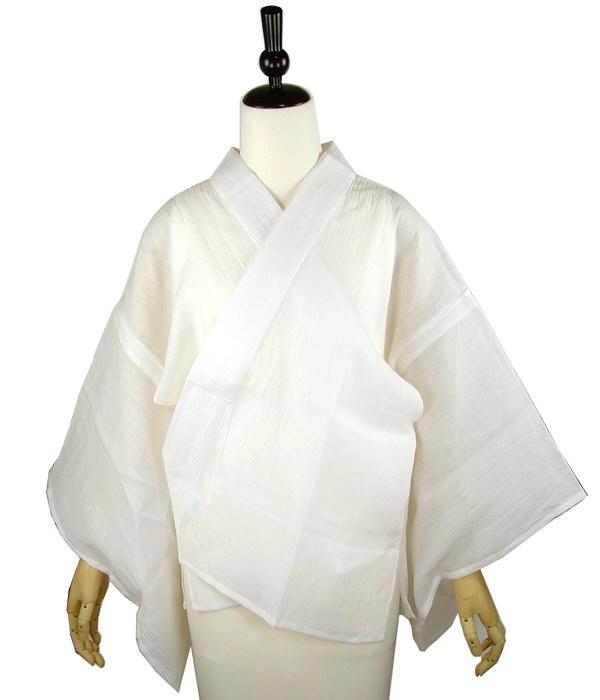 本麻半襦袢 麻半襟付き M L LLサイズ 着物 浴衣 着付け小物 和装 肌着 下着 夏用 涼しい