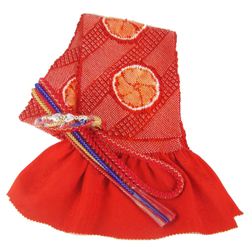 振袖用帯締め帯揚げセット 赤 総絞り 成人式 赤