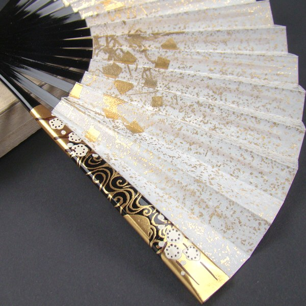 礼装用 金彩蒔絵扇子 梅 末広 留袖用 黒留袖 結婚式 フォーマル