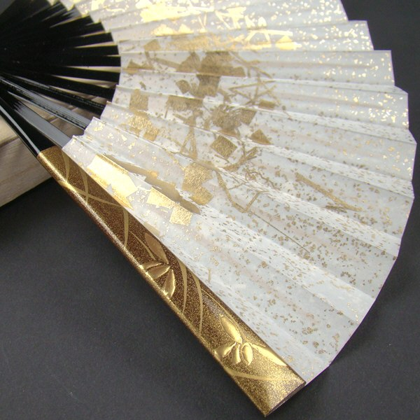礼装用 金彩蒔絵扇子 ラン 末広 留袖用 黒留袖 結婚式 フォーマル 金