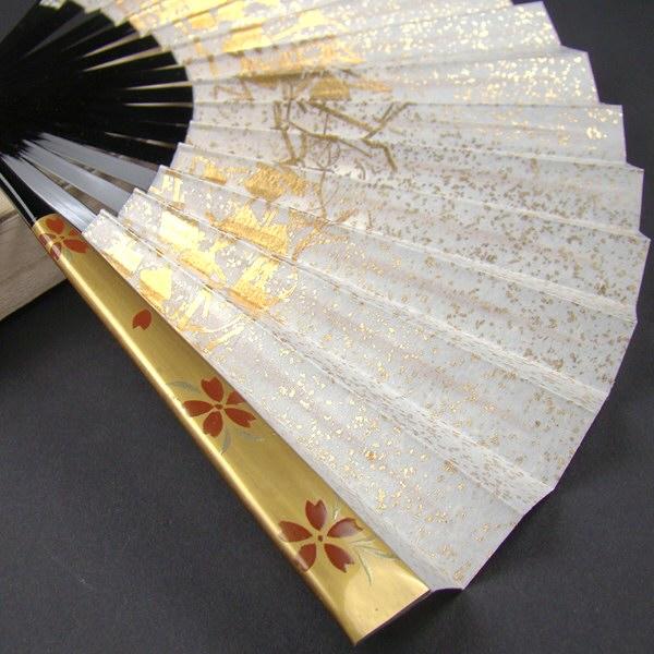 礼装用 金彩蒔絵扇子 桜 末広 留袖用 黒留袖 結婚式 フォーマル