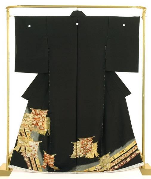 正絹京友禅留袖 金彩几帳文 結婚式 卒業式 フォーマル 和装 着物