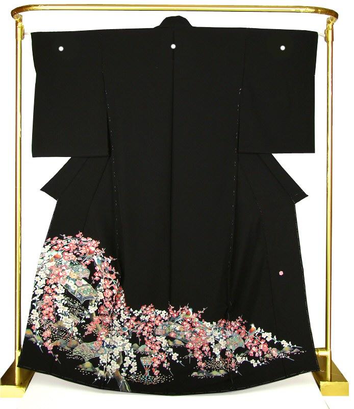 正絹加賀調黒留袖 花燭の宴 結婚式 卒業式 フォーマル 和装 着物