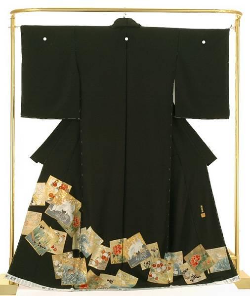 正絹金彩黒留袖 琳派色紙文・堀省平 作 結婚式 卒業式 フォーマル 和装 着物