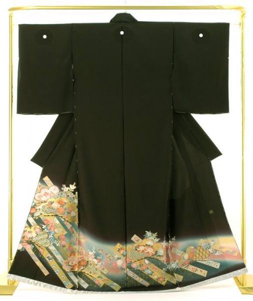 正絹創作黒留袖 加賀琳派百図 金沢箔 結婚式 卒業式 フォーマル 和装 着物