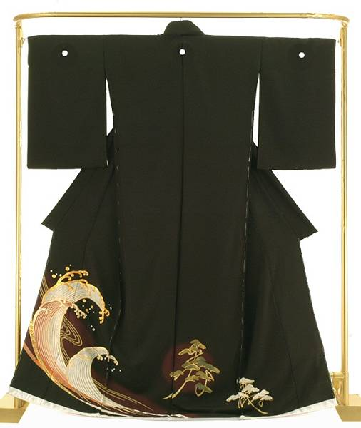 正絹金彩黒留袖 立波 結婚式 卒業式 フォーマル 和装 着物