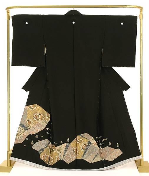 正絹金彩黒留袖 唐草鳳凰文 結婚式 卒業式 フォーマル 和装 着物