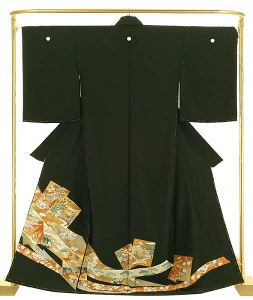 正絹 手描黒留袖 色紙熨斗取文 結婚式 卒業式 フォーマル 和装 着物