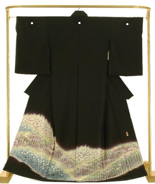正絹加賀調黒留袖 松竹梅 松本健一 作 結婚式 卒業式 フォーマル 和装 着物