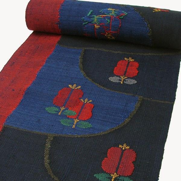 西陣八寸名古屋帯 手織真綿紬