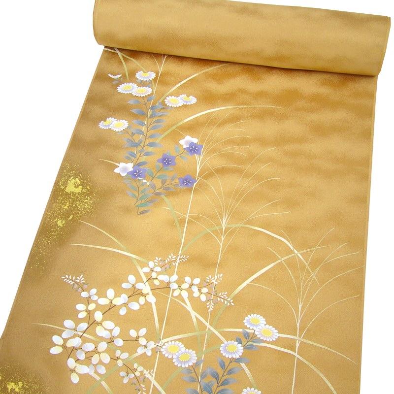 正絹手描き友禅附下 秋草の庭