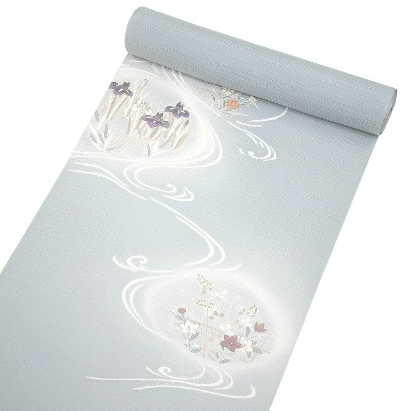 【夏物】正絹 絽附下げ 花の流水