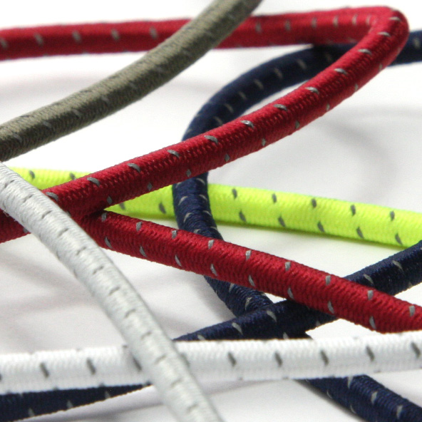 ランキングTOP5 ドローコードやシューレースなどにオススメの高視認性ゴム紐 SIC 再帰反射ストレッチコード 2mm 50メートル巻 SHINDO お買得 手芸 服飾