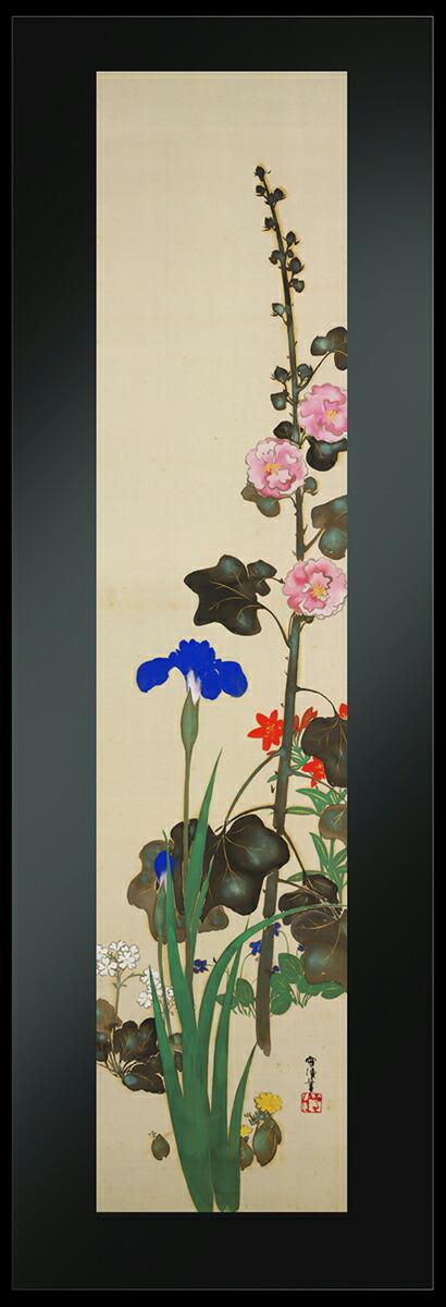アールプレシ神坂雪佳筆「四季草花図」春・夏