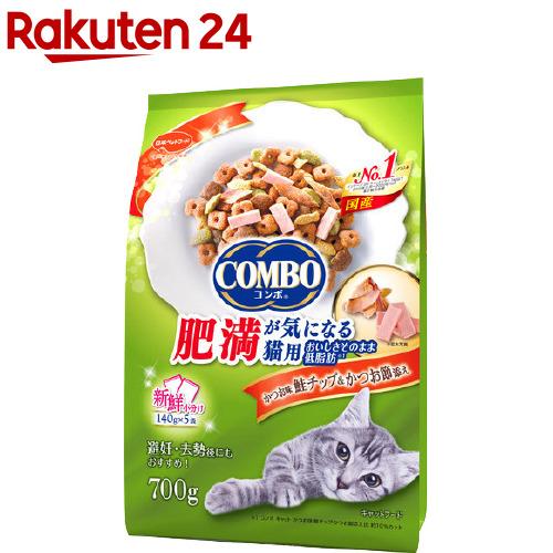 キャットフード コンボ 数量限定 COMBO キャット 肥満が気になる猫用 かつお節添え かつお味 5袋入 鮭チップ 高価値 140g