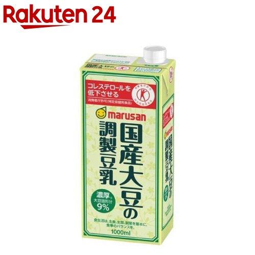 マルサン 国産大豆の調製豆乳 1L 格安 低価格化 6本入 イチオシ