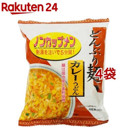 送料無料/新品 トーエー どんぶり麺 休み 4コ カレーうどん
