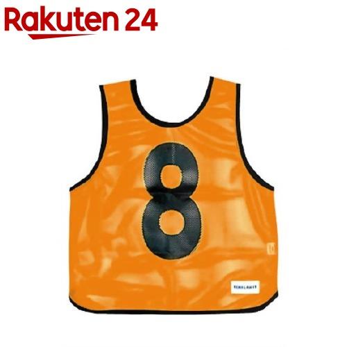 メッシュベスト(1-10) 蛍光オレンジ B-7691V(1枚入)【トーエイライト】