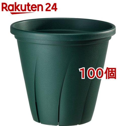 根はり鉢 6号 ダークグリーン(1.8L*100個セット)【大和プラスチック】