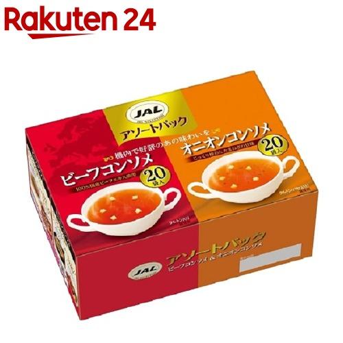 JALスープ 代引き不可 アソートパック meijiAU02 人気の定番 40袋入