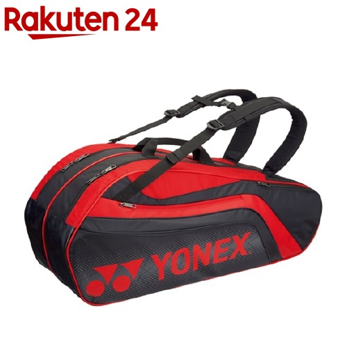 ヨネックス ラケットバック6 リュック付 テニス6本用 ブラック*レッド BAG1812R 187(1コ入)【ヨネックス】