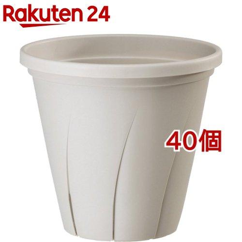 根はり鉢 10号 ホワイト(9.6L*40個セット)【大和プラスチック】