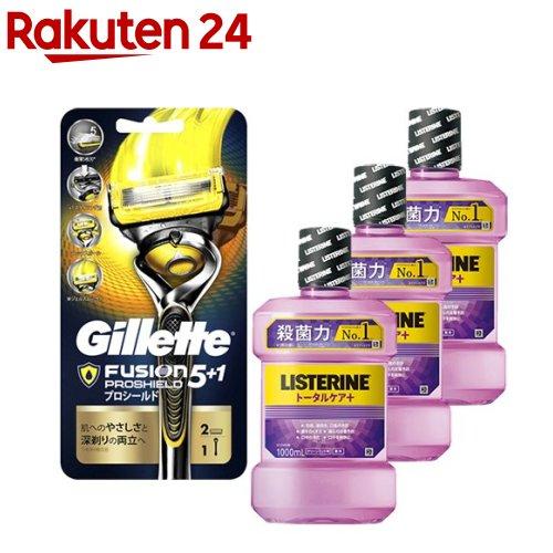 薬用リステリン トータルケア+ジレット プロシールド セット(1セット)
