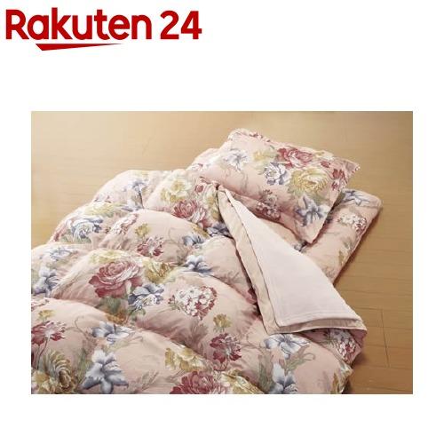 毛布&敷パッド付やわらかフェザー掛布団寝具 ダブル 13点セット ピンク(1セット)【送料無料】