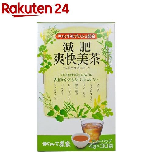 がんこ茶家 海外輸入 販売期間 限定のお得なタイムセール 減肥爽快美茶 4g 30袋入
