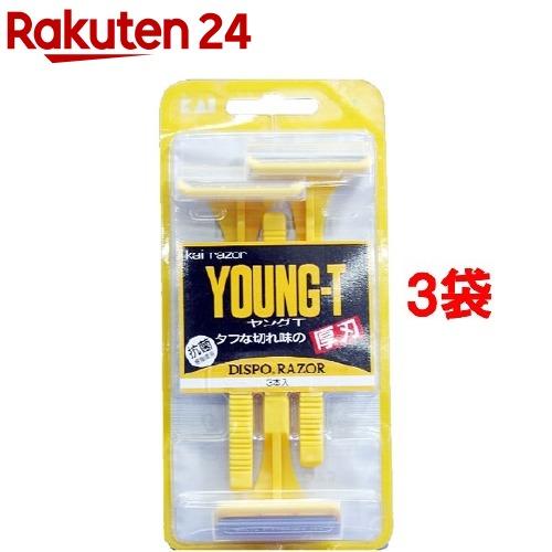貝印 カミソリ ヤングT YNGT-3B(3本入*3コセット)