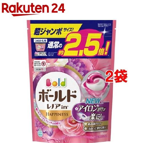 ボールド 洗濯洗剤 ジェルボール3D 癒しのプレミアムブロッサムの香り 詰替超ジャン(44コ入*2コセット)