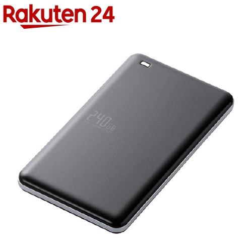外付けSSD ポータブル USB3.1(Gen1)対応 240GB ブラック ESD-ED0240GBK(1コ入)【エレコム(ELECOM)】