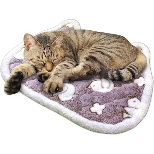 【企画品】ニャン太クラブ ことりさんのもこふわ温熱マット 猫型 CT-449(1コ)