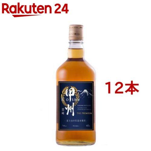 ウイスキー 甲州韮崎 ザ・プレミアム 瓶(700ml*12本セット)