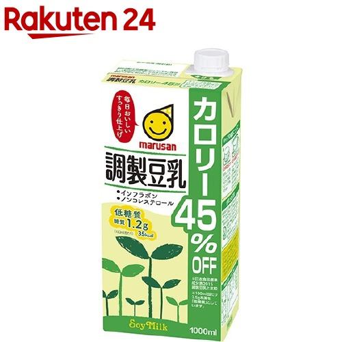 マルサン 調製豆乳 カロリー45%オフ イチオシ 超目玉 1L 数量限定アウトレット最安価格 6本入