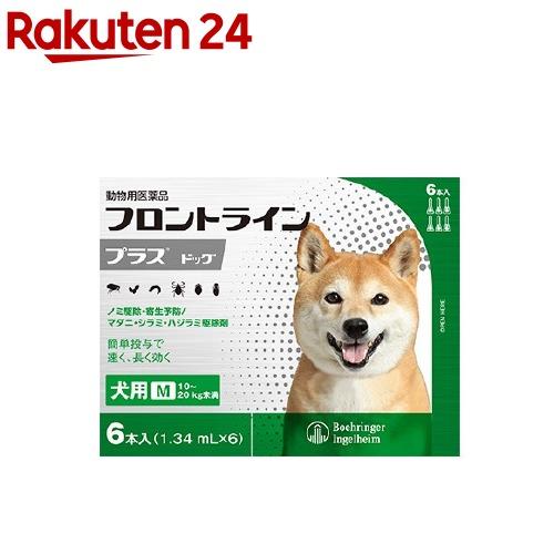 フロントラインプラス 動物用医薬品 犬用 10~20kg未満 マーケティング 海外 M 6本入