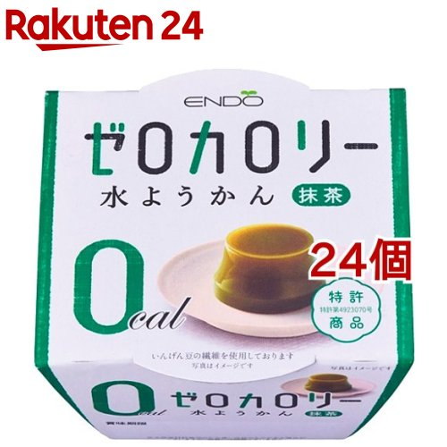 遠藤製餡 ブランド買うならブランドオフ Eゼロカロリー 新作 人気 水ようかん 90g 24個セット 抹茶