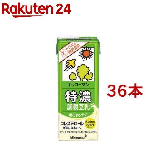 商品 キッコーマン 特濃調製豆乳 36本セット 200ml お気に入