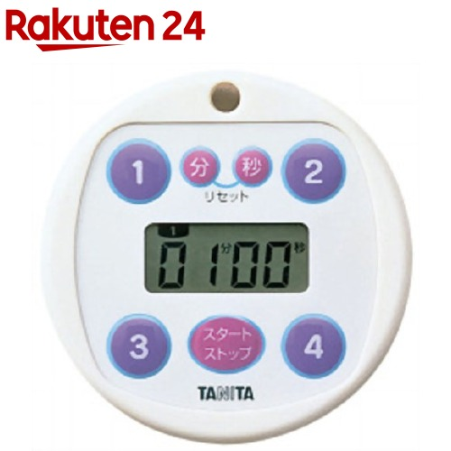 タニタ TANITA プリセットタイマー100分計 40%OFFの激安セール 交換無料 5366-WH ホワイト 1台