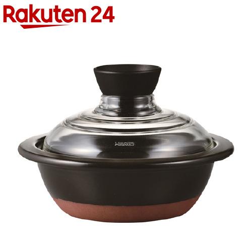 NEW売り切れる前に☆ ハリオ HARIO フタがガラスの土鍋 GDN-165-B テレビで話題 1個 6号