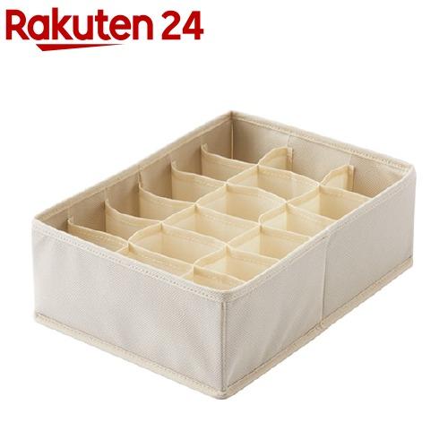 プロフィックス 日本正規代理店品 仕切りケース 小物収納 未使用品 小物入れ せいとんボックス アイボリー 仕切り付 L 1コ入