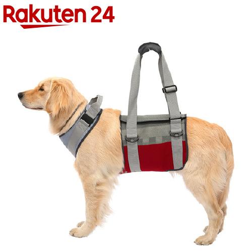 歩行補助ハーネスLaLaWalk 大型犬用 メッシュグレーワイン LL(1個)