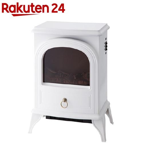 暖炉型ヒーター ノスタルジア ホワイト アンティーク調(1台)